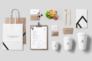 food design materiais impressos para restaurante