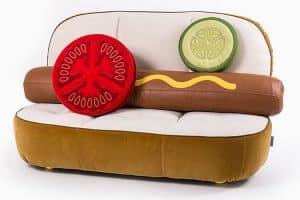 sofá hot dog food design