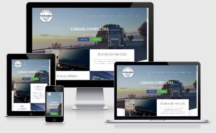 criação de sites em porto alegre transportes faraem